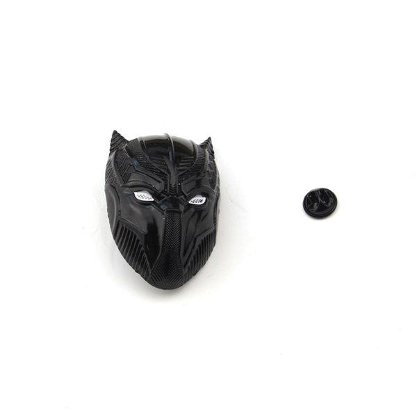 2019 Marvel Movie Black Panther Mask Hollow Brooch Badge Personalized Creative Metal Superhero Mask Jewelry brooch pin