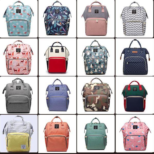 top popular 99 styles Mummy Maternity Nappy Bag Large Capacity Baby Bag Travel Backpack Desiger Nursing Bag for Baby Care Diaper Bags mini order 12 pcs 2021