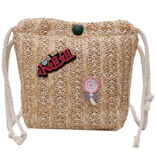 Straw Pumping Small Square Bag New Wave Text Printing Summer Small Bag Versatile Texture Shoulder Diagonal Package