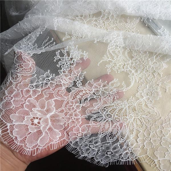 3M long cils dentelle garniture traditionnelle dentelle tissu de mariage blanc rouge violet Table Cloth DIY BRICOLAGE