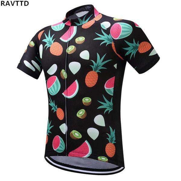 Equipe de frutas Ciclismo Jersey Respirável Verão Bicicleta Pano MTB Ropa ciclismo Bicicleta maiô Jersey Apenas Quick Dry Bicicleta Jersey
