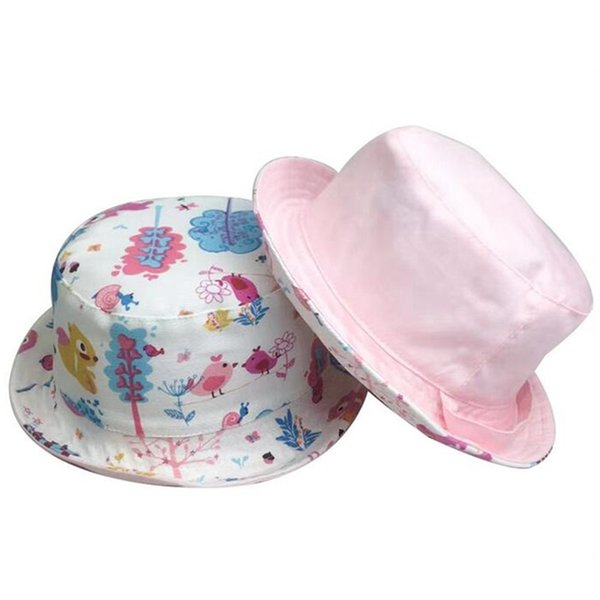 Infant Summer Outdoor Baby Girls Animal Cotton Sun Cap Baby Hat Cartoon Pattern Prints Beach pot Hats Headwear Caps Brim Sun Hat