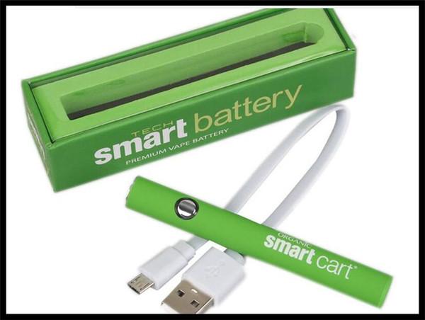 Preheat Battery 380mah Preheating Battery 510 Thread Vaporizer Smart Vape  Pen Green Oil Cartridge Vaping Mod Battery Kit With Charger Ecig Battery