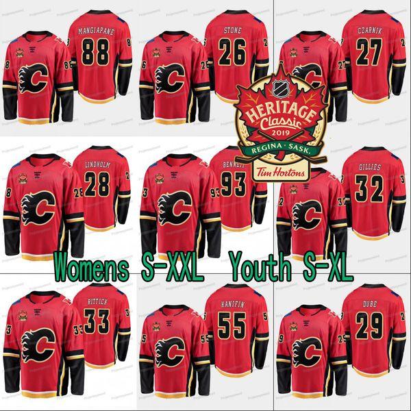 Lady and Youth Calgary Flames Matthew Tkachuk 2019 Heritage Classic Jersey Johnny Gaudrea Sean Monahan Dillon Dub Jon Gillies Alan Quine