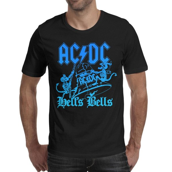 ACDC hell's bells rock band 2019 Summer custom T Shirt For Men vintage fashion shirts