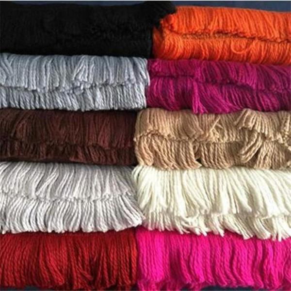 Sciarpe del fiore della stilista del monogramma di lusso di marca di lusso delle sciarpe della coperta di lana di seta rossa nera dei due lati Sciarpe calde delle donne degli uomini