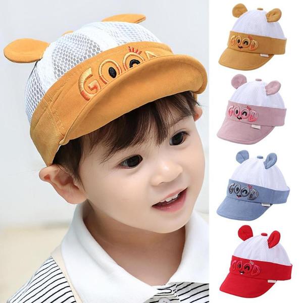 dfd58e38bb4b6e Cute Cartoon Baby Sun Hats Children Baseball Cap Summer Toddler Infant Kids  Casual Bucket Caps Outdoor