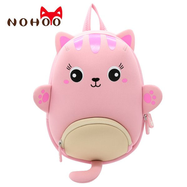 Toddler Girl Backpack 3D Cartoon Cat Pre School Backpack Kids Toddler Waterproof Bag for Pre Kindergarten Girls 2-6 Years