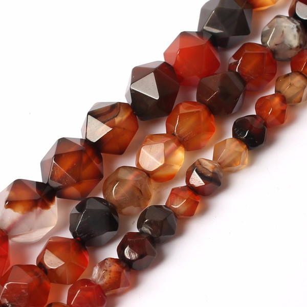 faceted natural mixed coffee beads 15inches natural stone beads for jewelry making 6/8/10mm diy bracelet wholesale