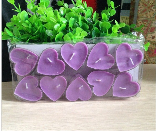 top popular Heart shaped candle Wildlebend 50 Piece - Mor Ship from Turkey HB-001635241 2019