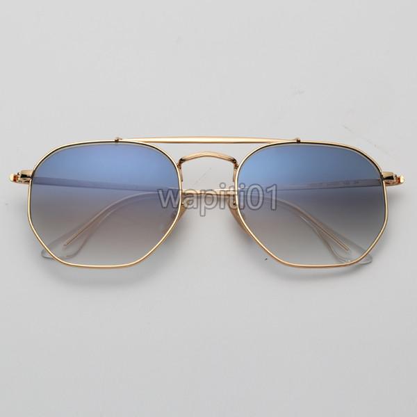 Gradiente de ouro / azul