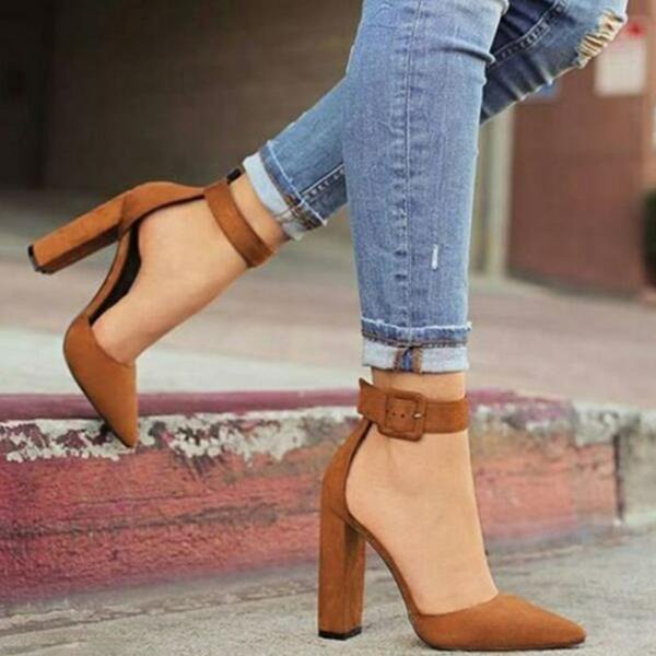 Women Sandals Shoes Ladies High Heels Pumps Sexy Dancing Party Wedding Ladies Shoes Zapatos Mujer Ankle Strap Pointed Toe Pumps