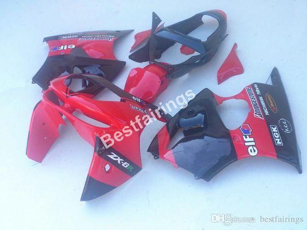 Top-selling body parts fairing kit for Kawasaki Ninja ZX6R 1998 1999 red black fairings set ZX6R 98 99 CF28