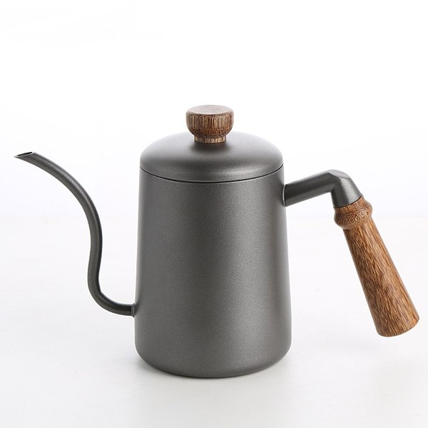 top popular Wooden handle coffee maker stainless steel drip coffee pot Teapots Teaware 2021