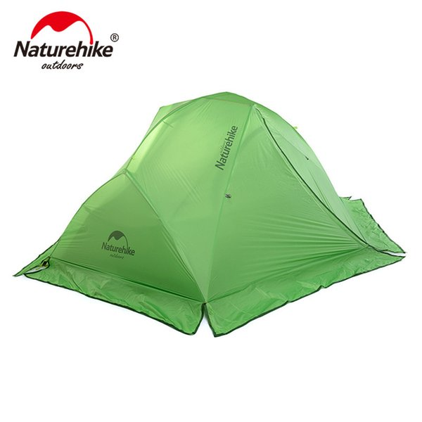 Naturehike Ultralight 2 person 4 season camping tent with snow skirt outdoor sports hiking double layers tents with floor mats