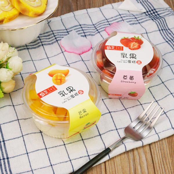Hornear Postre Envasado de Frutas De Plástico Jelly Cups Pudding Cup DIY Ronda Caja Clara para Pastel Mousse Yogur Helado