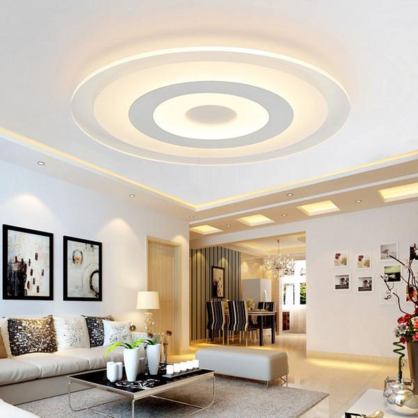 Moderno 29W De Techo 45W Sala LED De 61W De Estar Lámpara Para 3 Decoración Techo Compre Acrílico Círculo Comedor 52W Dormitorio De Iluminación Led QrEBoWdCex