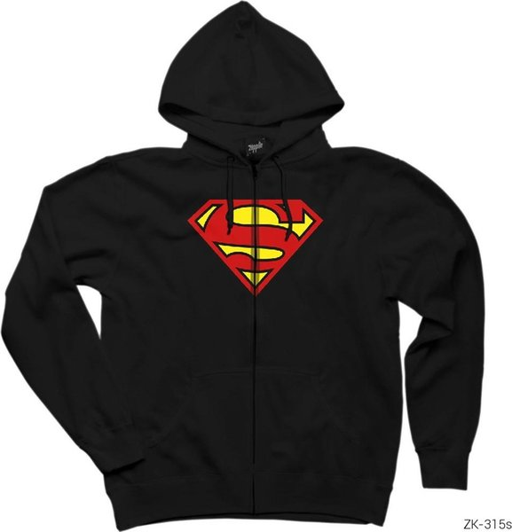 Zepplin Giyim Zepplin Clothes Superman Classic Zipped Hooded Sweatshirts Ship from Turkey
