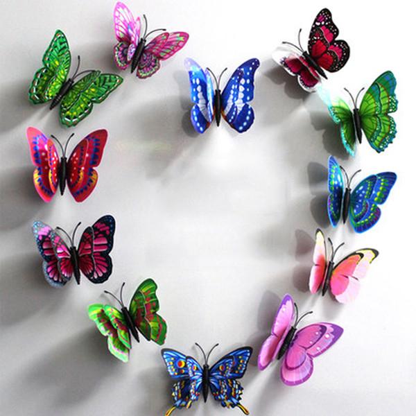 10pcs artificielle papillon lumineux aimant pour la maison de Noël décoration de mariage