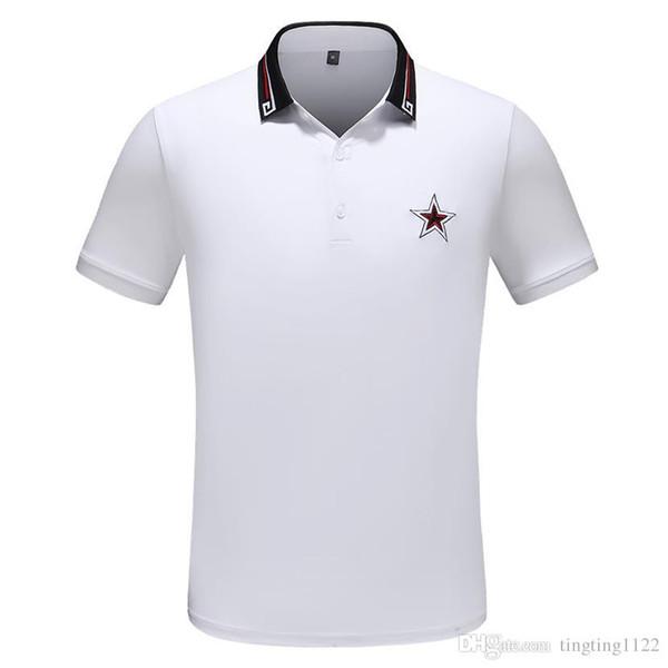 2019 Atacado dos homens desgaste de algodão de grande porte de manga curta T-shirt verão lapela camisa polo frete grátis M-3XL # TR12