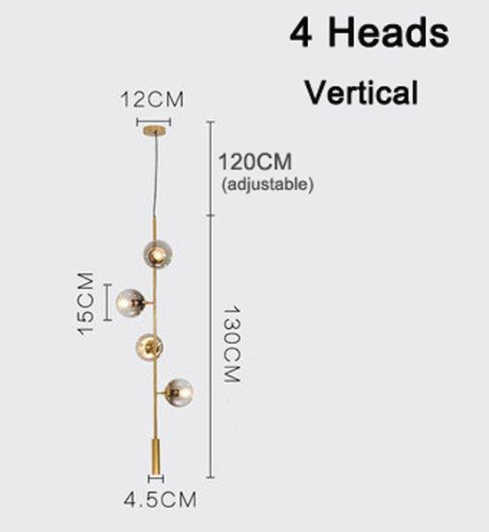 4 cabeças verticais