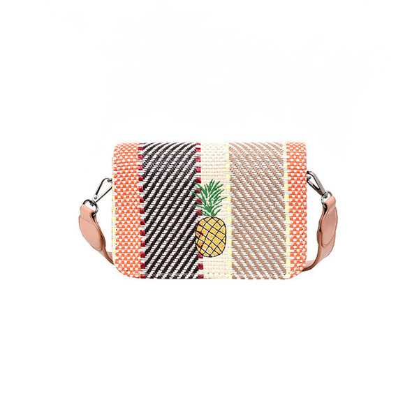 Small square bag Ms. 2019 new bohemian style versatile shoulder Messenger bag fashion broadband woven beach holiday straw