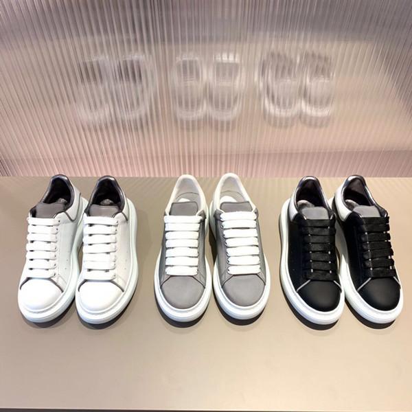 Ultimi sandali oversize in pelle riflettente per sneaker, scarpe per amanti scarpe da ginnastica firmate in scarpe casual nere bianche con dimensioni box 35-40