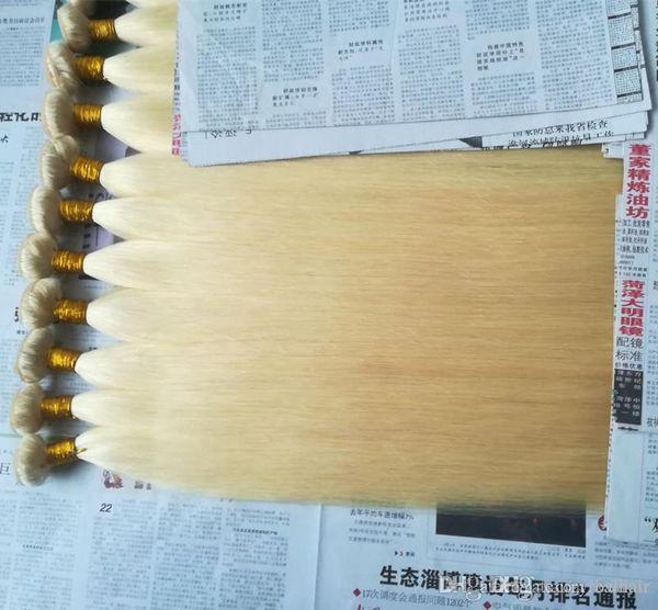 ELIBESS Hair--Top Grade 100G Straight wace Color 613# Virgin Hair Bundles Unprocessed Human Russian Hair Weaving, FREE DHL