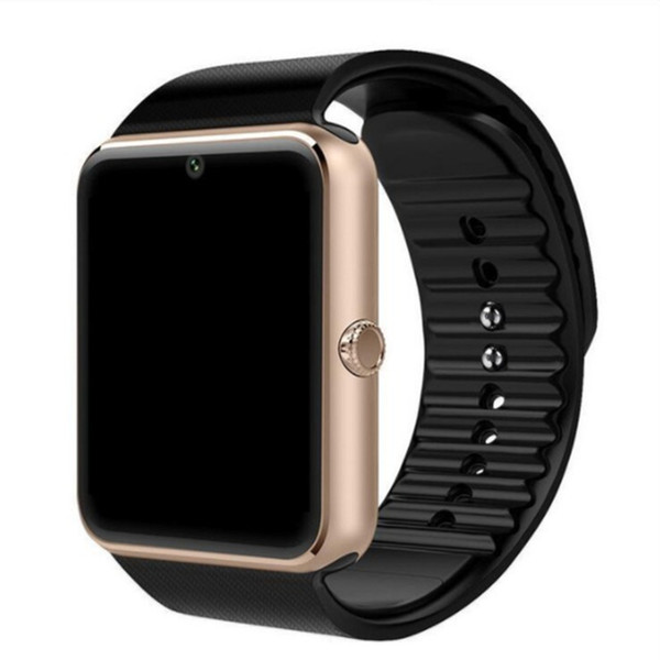SmartWatch golden with black band
