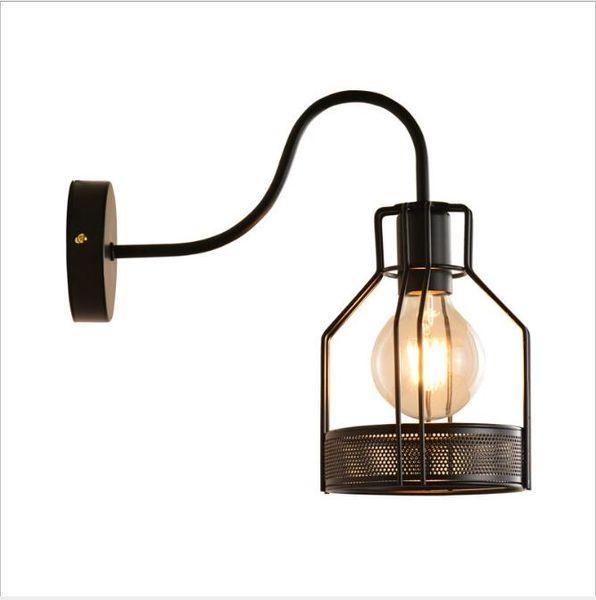 Vintage Duvar Lambası Endüstriyel duvar ışık LED Aplik Amerikan Retro duvar lambası Metal kapak ışık Ev dekorasyon aydınlatma armatürü