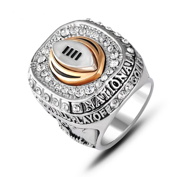 Top Quality Fashion Men's Rings Crystal Rings Ohio State University Buckeyes Championship Rings Vintage Men Jewelry