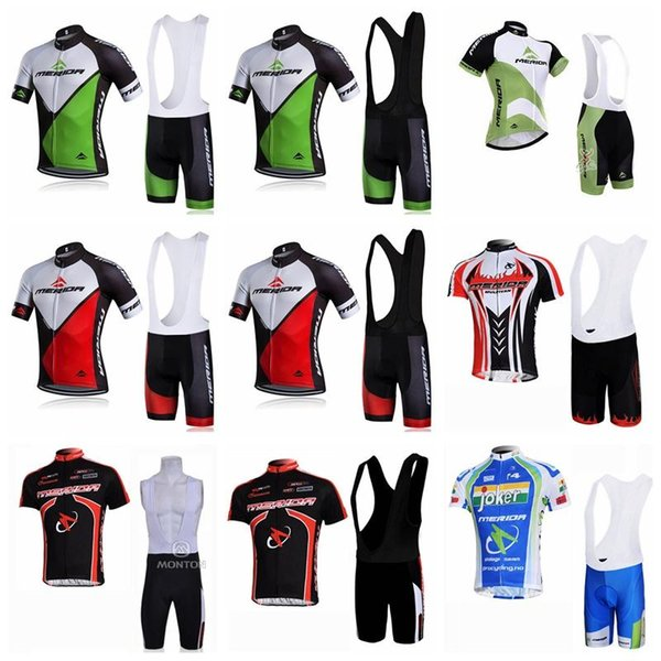 2019 MERIDA Team Summer Cycling Jersey Ropa Ciclismo Short Sleeve Bike shirt Bib shorts set quickdry mtb Bicycle wear K122505
