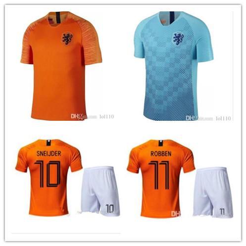 abe8491b4 Top quality 18-19 Netherlands Dutch national team home ROBBEN MEMPHIS jersey  custom football suit