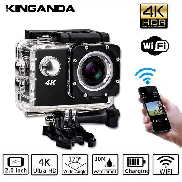 Su geçirmez Ultra HD 4 K UHD Eylem Spor Video Kamera WiFi Kamera FHD 1080 P DV Kam Geniş Açı Git Deportiva 2 inç LCD Pro 32G