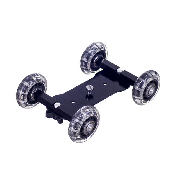 Kaliou DSLR Camera Video Photograph Rail Rolling Track Slider Skater Table Dolly Car Flexible For Speedlite DSLR Camera Camcorde