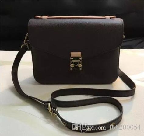 Livraison gratuite de haute qualité en cuir véritable + toile souple femmes sac à main pochette Metis épaule sacs bandoulière