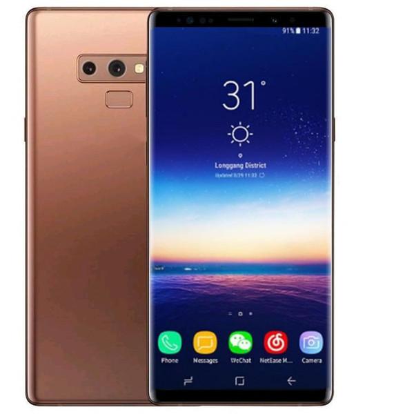 Goophone note 9 plus 6,3 pollici MTK6580 telefono cellulare sbloccato quad core android dual sim 1G Ram 8G Rom telefono 3G SmartPhone