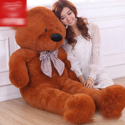hot sale 180CM/70''inch TEDDY BEAR PLUSH HUGE SOFT TOY 1.8m Plush Toys Valentine's Day gift/ Birthday gifts /New Year's gift D-brown