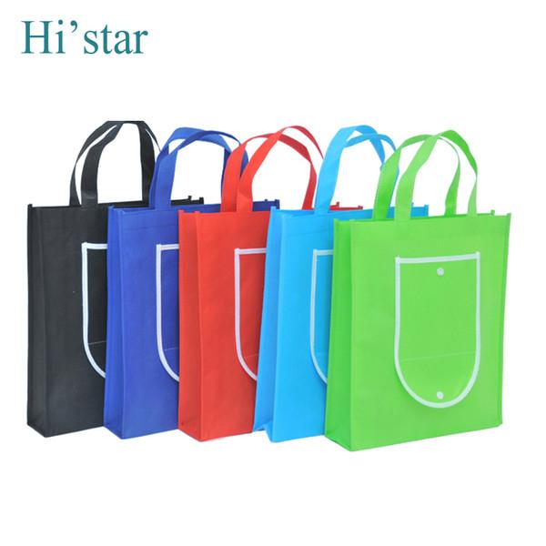 Bolso de compras no tejido reutilizable del bolso de compras de 30 * 35 * 8CM 20pcs para el regalo / el anuncio / el partido / el supermercado