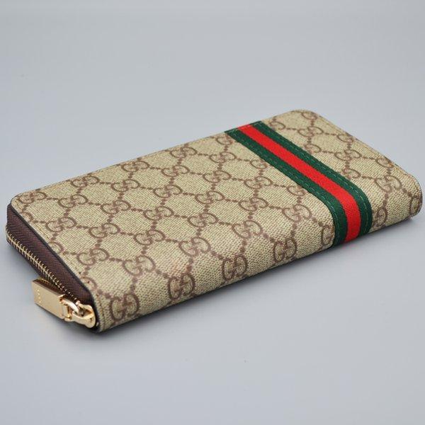 best selling Designer men and women fashion classic wallet long zipper clutch