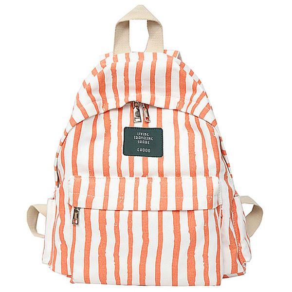 Mochila fresca Lona de algodón 100% Mochila escolar para chicas adolescentes Estilo de Inglaterra Tiras de ocio o bolsa de viaje para mujeres Paquete suave