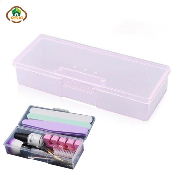 wholesale Nail Art Storage Box Manicure Tools Plastic Box For Nail Polish Dotting Drawing Pens Buffer Grinding Files Organizer