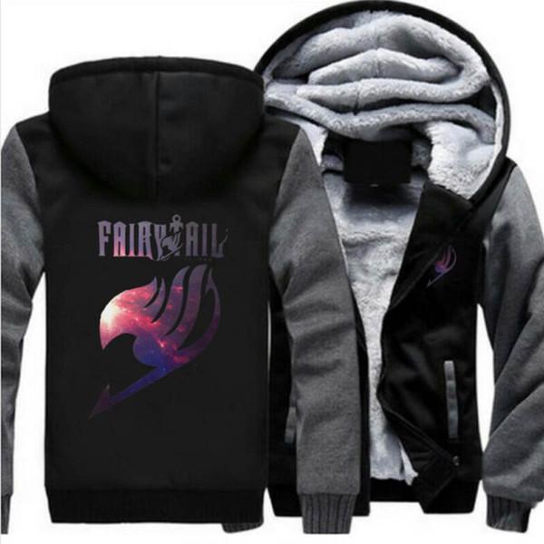 Fairy Tail Print Cosplay Hoodies New Anime Coat Luminous Jacket Fashion Men Women Winter Zipper Hooded Sweatshirt USA Siz