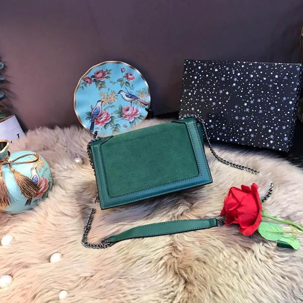 Para mujer de Lujo Bolsos de Hombro Niki Mediano En Cuero de Gamuza Negro Verde Gris Bolsos de Moda Mujeres Diseñador Bolsas de Cubierta Cadena Totes Casuales