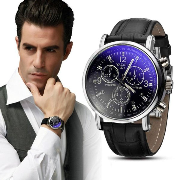 "2017 New Luxury Fashion Crocodile Faux Leather Men""s Analog Watch Watches Dropshippig L529 Z1026"