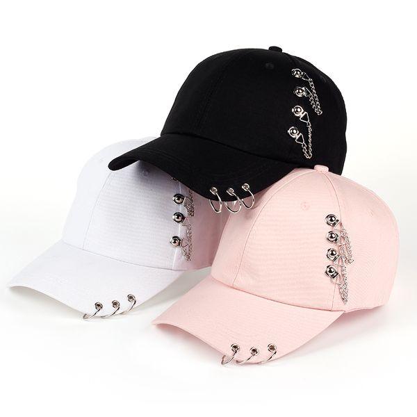 Venta al por mayor 2017 nuevo estilo venta caliente anillo de hierro cremallera sombreros gorra de béisbol ajustable unipue estilo unisex hip hop snapback cap