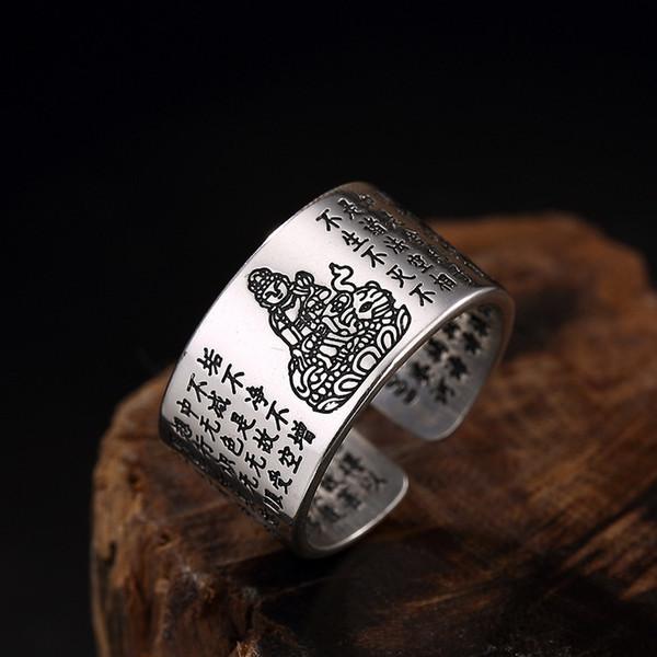 NICHT FAKE Ring 925 Sterling Silber Ring Fortune Thai Silber S925 Fine Art Semi-Edelstein-Tier Viel Glück Tibetische Vintage Frosch-Kröte