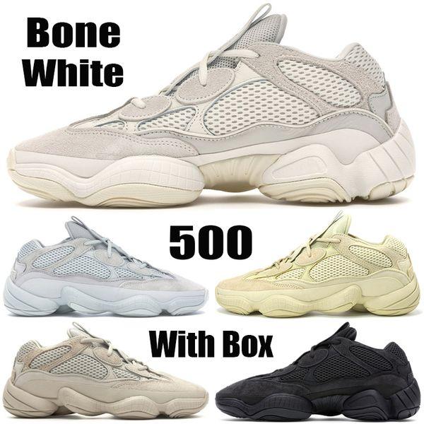 Bone White Stock X Top Quality Kanye West 500 Дизайнерская обувь Утилита Black Супер Луна Желтый Соль Blus