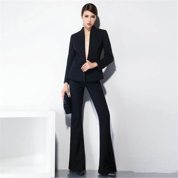 New Arrival Fashion Pants Suits Women Blazer 2 Two Piece Set Solid Jacket & Pant Blazers Femme Mujer Plus Size