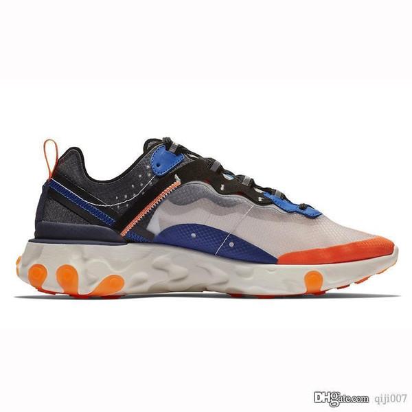 Nike React Element 87 running shoes Nuovi uomini caldi e scarpe casual bianche blu uomini e donne scarpe piatte elementi di moda scarpe casual traspirante taglia 36-45